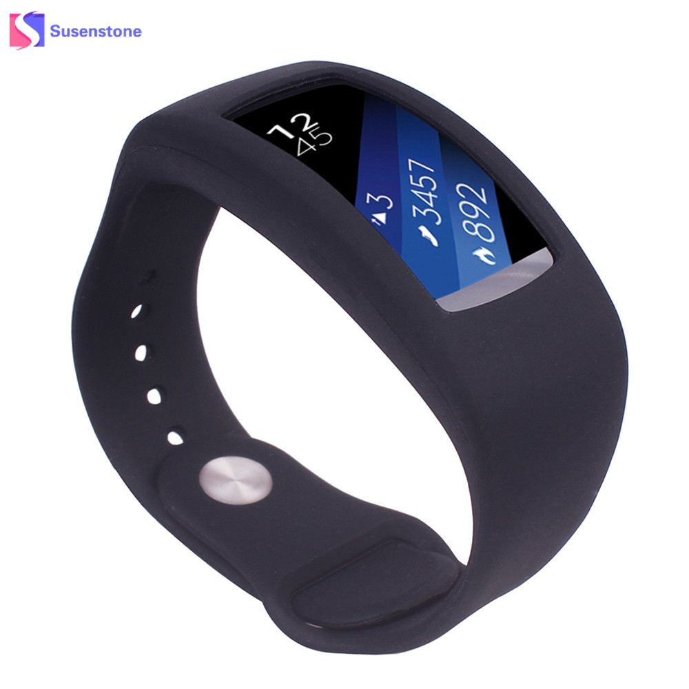 New Silica Gel Replacement Watch Band Strap For Samsung Gear Fit2 Watchbands Replacement For Samsung Gear Fit2 luxury silicone watch replacement band strap for samsung gear fit 2 sm r360 wristband 100