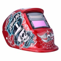 Solar Powered Auto Darkening Welding Helmet Protection For Grinding Lens Tig Welder Mask Red Pirate