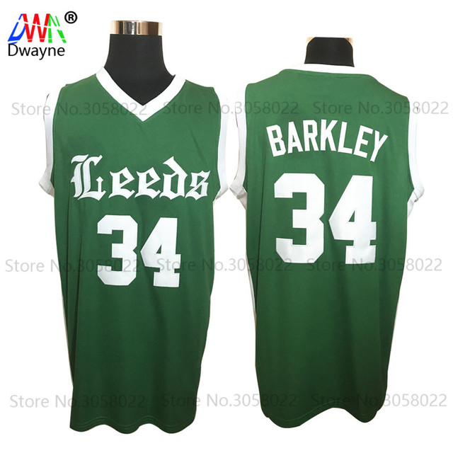 80bc55807bd ... denmark 2017 mens dwayne cheap throwback basketball jersey charles  barkley jersey 34 leeds high school green