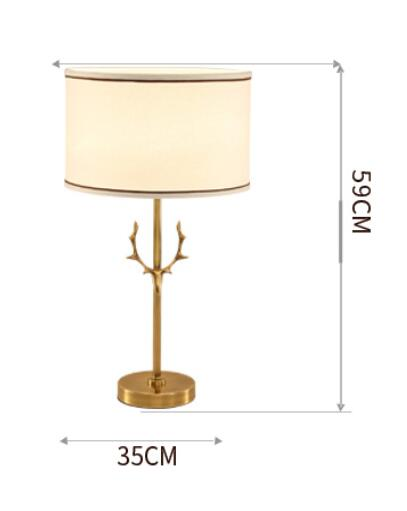 American Style All Copper Bedroom Bedside Table Lamp Modern Creative Cloth Living Room Study Decorated Lights Za8315 In Lamps From