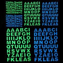 Glow in the Dark Letters Sticker Luminous Alphabet Stickers Wall Switch