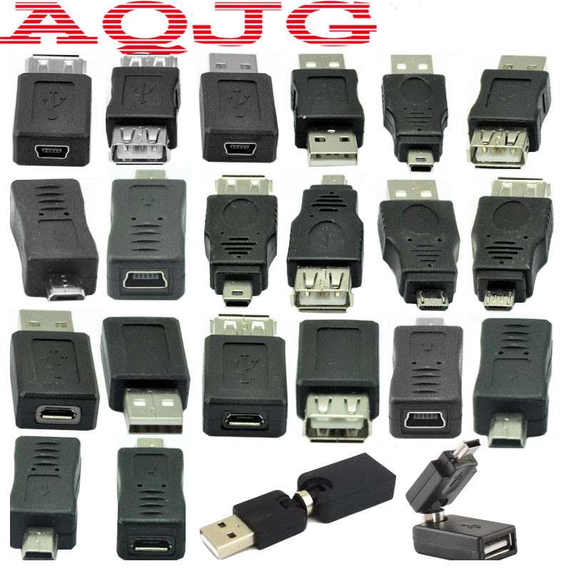 Adapter micro usb switch male to female Usb male to female 360 Degree Mini usb usb2.0 For Car Mp3 Phones Converter Convenient 12pcs usb3 0 adapter couplers toolkit type a to b or micro or mini and male to female adapters usb male to female right degree