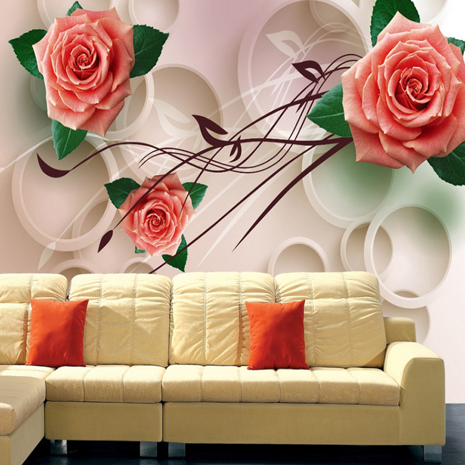 Romantic Rose 3D Any Size Custom Wallpaper Brick Wall Baby-room Mural Rolls Hotel Restaurant Living Room Bedroom Bar KTV Decor vivitek h1185 кинотеатральный проектор white