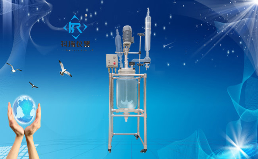 10L Double wall Glass Reactor with Explosion with high Borosilicate GG3.3 for pilot plant for Laboratory Distillation Equipment 10l batch glass reactor glass lined jacketed reactor vessel for chemicaland pharmaceuticals industry with condenser with ptfe