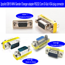 10 pcs/lot 15 pin D-sub VGA HD SVGA MINI Kelamin Changer Adapter PC VGA Perempuan ke Laki-laki Konektor F/F M/M Kabel Memperpanjang Converter(China)