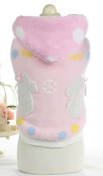 Lovely dogs cats autumn winter Christmas gloves hoodies costume doggy fashion sweaters clothes puppy overcoat pet dog cat jacket