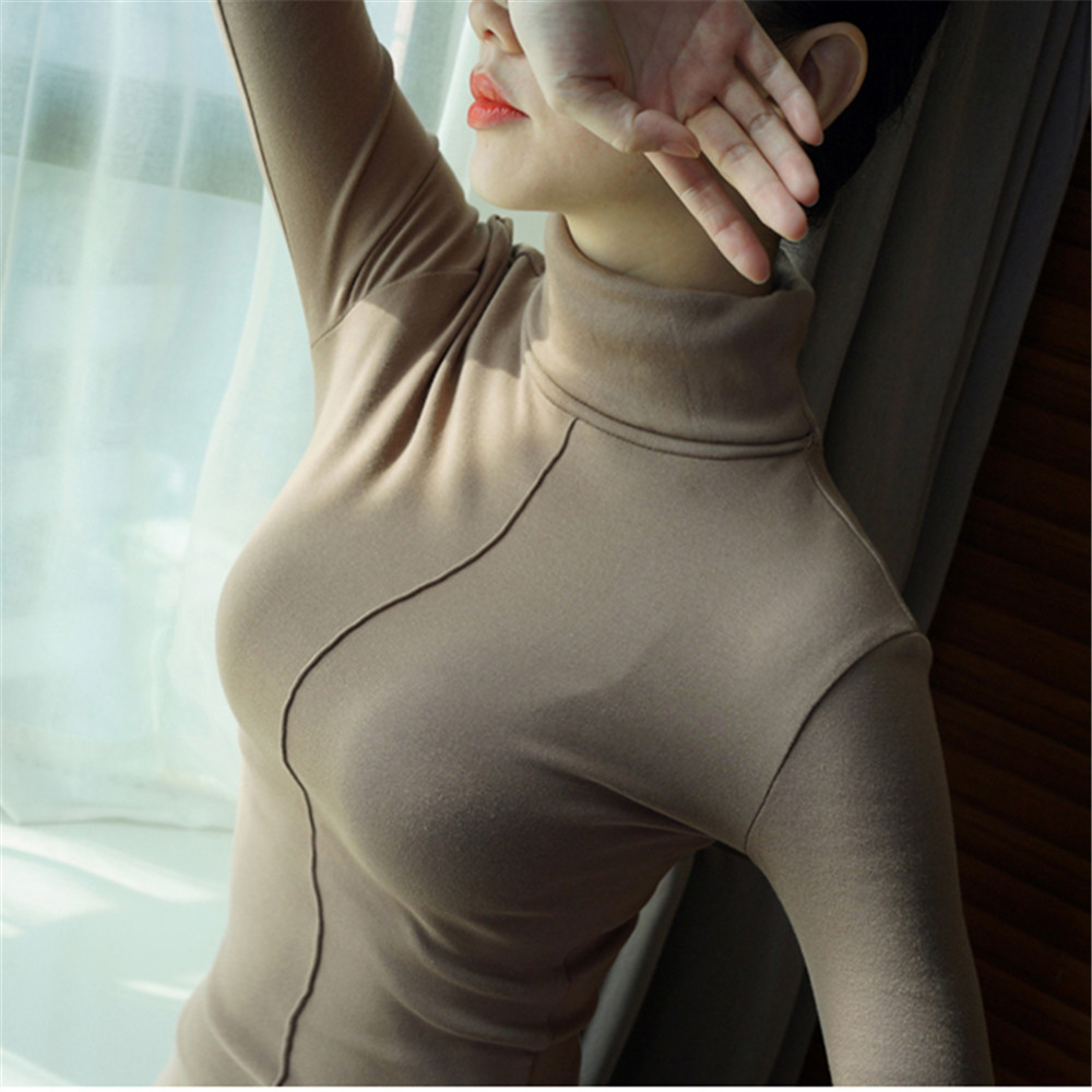 Sweater Female Soft Korean Style Skinny Winter Turtleneck Women Bodycon Basic Pullovers Long Sleeve Pull Femme Coat Female Top 10