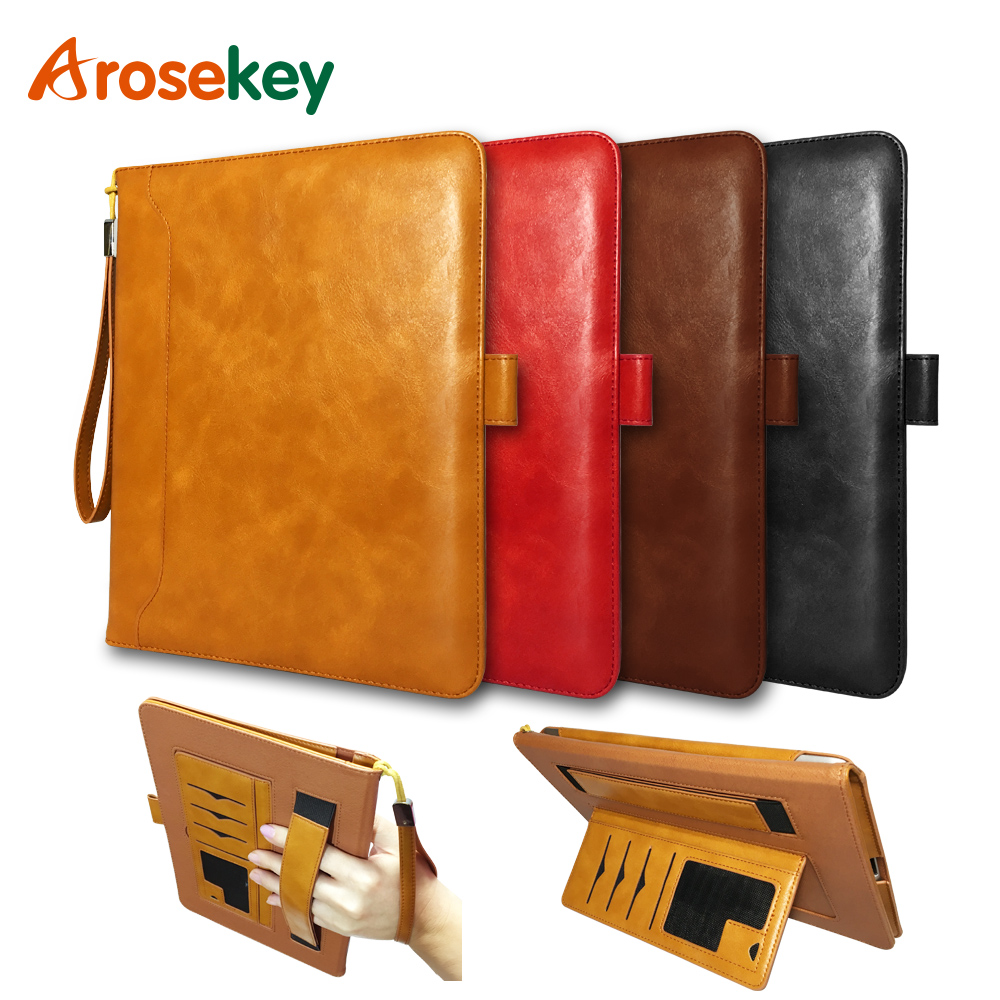 Arosekey For Apple iPad 2 3 4 Case 9.7 inch Soft PU Leather iPad Cover Smart Dormancy With Stand Holder For ipad 2/3/4 pannovo waterproof pu leather extra thick anti shock eva case for gopro hero 4 3 3 2 sj4000