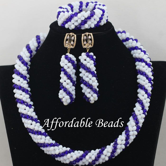 Single Row African Ladies Jewelry Set Best Nigerian Wedding Necklace Best Design Handmade Item NCD088