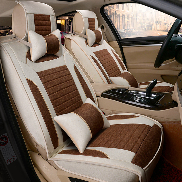 Série de Linho de algodão Tampa de Assento Do Carro 3D Full Surround Design Coxim Do Carro Para Infiniti EX25 FX35/45/50 G35/37 JX35 Q70L QX80/56