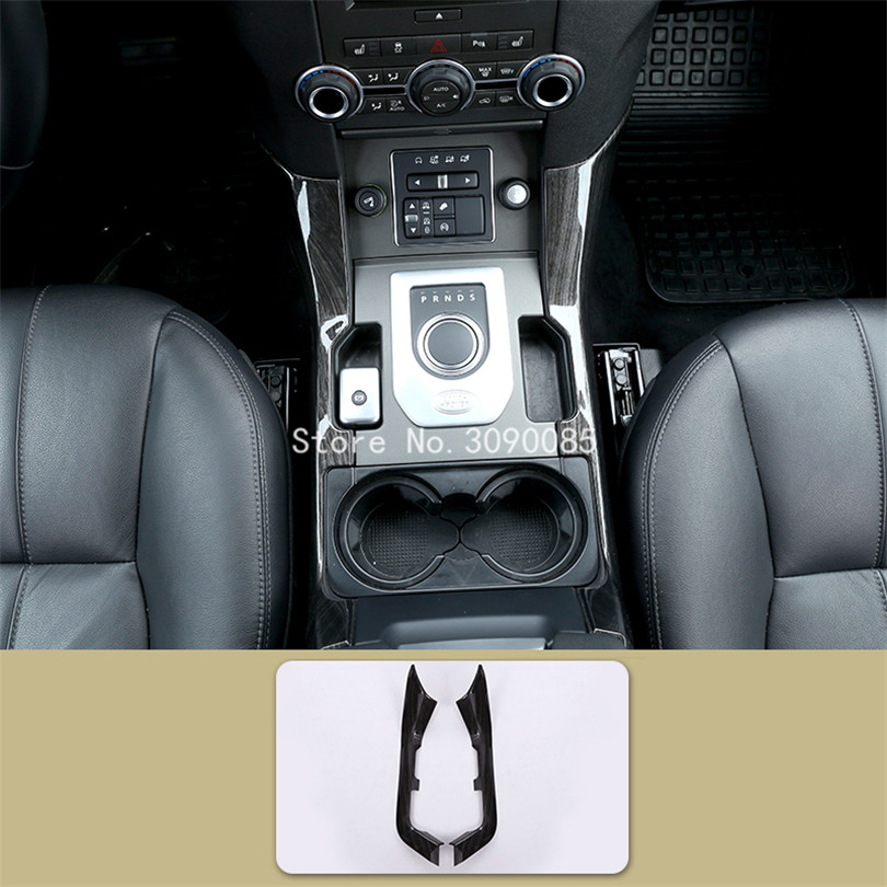 Black Wood Grain Interior Mouldings Cover Trim For Land Rover Discovery 4  Car Styling Accessories