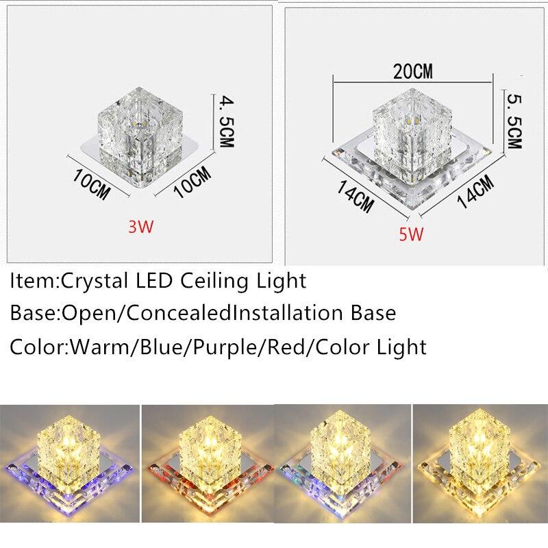 Luz de teto simples e moderno quadrado