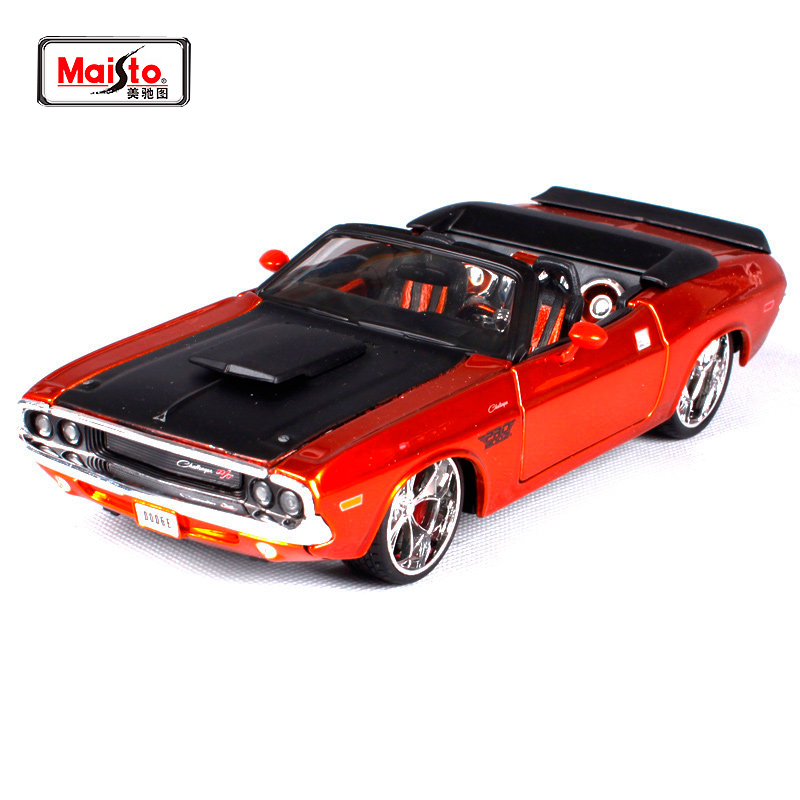 Maisto 1 24 1970 Dodge Challenger R T Convertible Diecast Model Car Toy New In Box