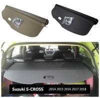 For Suzuki S CROSS 2014 2015 2016 2017 2018 Rear Trunk Security Shield Cargo Cover High Qualit Auto Accessories Black Beige