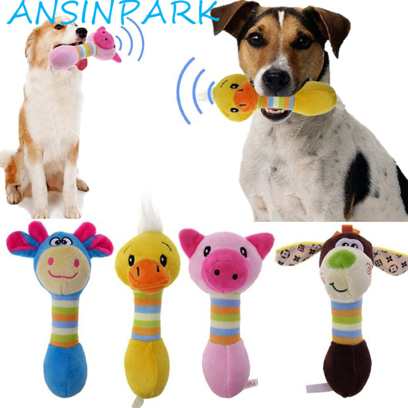 Ansinpark Cute Pet Dog Chew Toys For Animals Pet Plush Toys Will Dog Cat Puppy Toot Squirrel Dog Chew Squeak Toy Merchandise H77