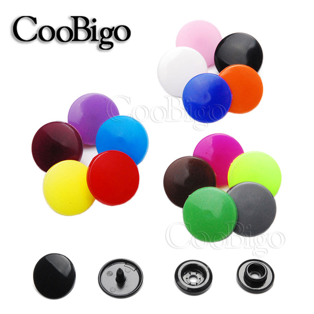 100Sets Round Plastic Snaps Button Fasteners Quilt Cover Sheet Button Garment Accessories For Baby Clothes Clips T5(12mm)