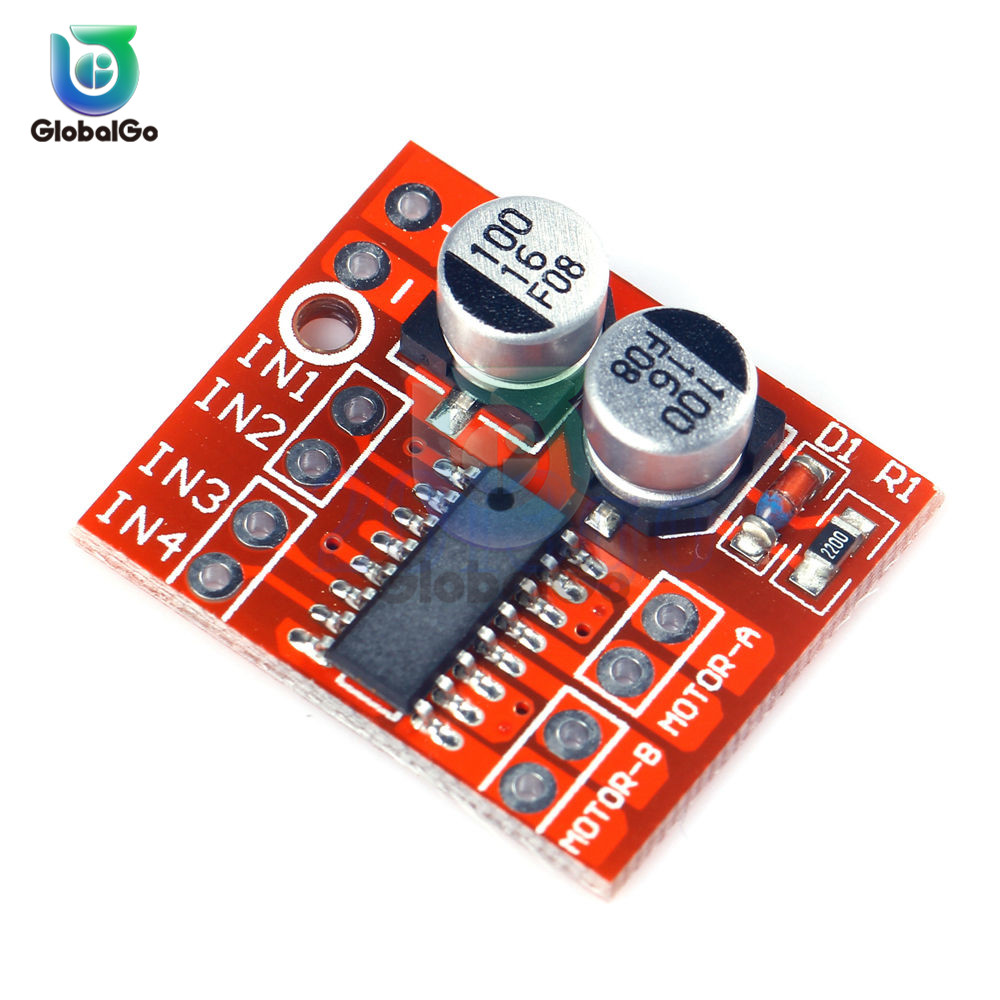 1.5A Dual 2 Channel Way <font><b>DC</b></font> <font><b>Motor</b></font> <font><b>Driver</b></font> Module PWM Speed Dual H-Bridge Stepper L298N MX1508 image