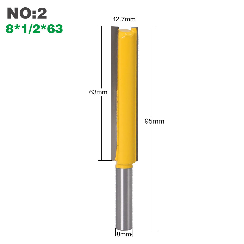 "Image 4 - 1 pc Straight/Dado Router Bit 1/2"" Dia. X 3"" Length   8"" Shank Woodworking cutter Wood Cutting Tool-in Milling Cutter from Tools"