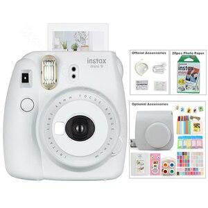 Image 4 - Kit Photo 5 couleurs Fujifilm Instax Mini 9 avec sac de transport, Film Instax Mini 20 feuilles, Album, autocollants et objectif