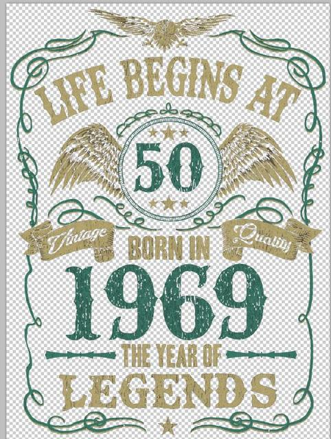 28a48363c 2019 Fashion Summer Style Life Begins At 50 Mens T-Shirt BORN In 1969 Year  of Legends 50th Birthday Gift Tee shirt