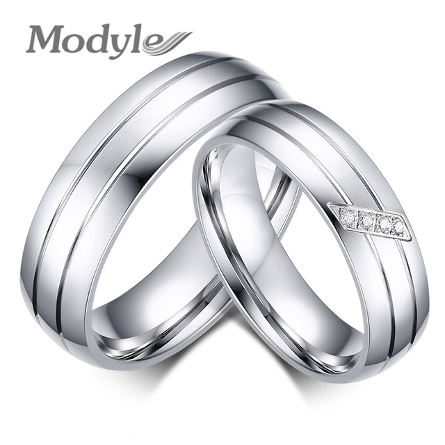 zorcvens famous brand lovers rings for women and men engagement wedding ring set stainless steel jewelry