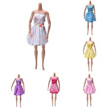 New 2018 1Pcs Doll Kids Gifts Toys Beautiful Party Handmade Mini Fashion Dress Doll Clothes Short Skirt For(China)