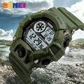 Skmei marca s choque mens militar sports watch digital led relógios homens à prova d' água estudante multifunções relógios de pulso do exército