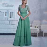 Mint Green Mother of the Bride Pant Suits Plus Size Dresses for Mother with Jacket Lace Plus Size Gowns Vestido Mae Da Noiva