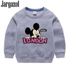 Kids Clothes Toddler Baby Girls Boys T Shirt Cartoon Mickey Printed Casual Sweater Cute Autumn Spring Long Sleeve Shirts Carters