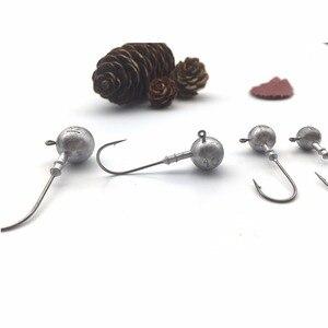 Image 5 - Balıkçılık yuvarlak top Jig Head kanca aksesuarları yumuşak yem yem 32627 Mustad kanca 3/5/7/10/15g Lot 5 adet