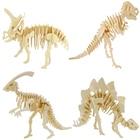 36 Kinds Creative DIY 3D Wooden dinosaur Puzzle Game Children Kids Natural Toy Model Building Kits Educational Hobbies Gift