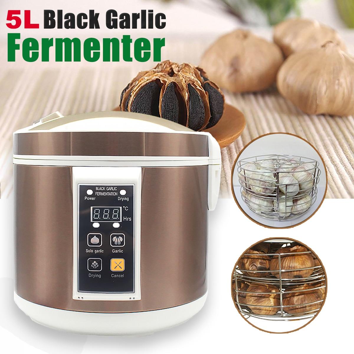 90W 5L Intelligent Black Garlic Fermenter Automatic Fermentation Machine Household DIY Zymolysis Pot Maker Home Appliances