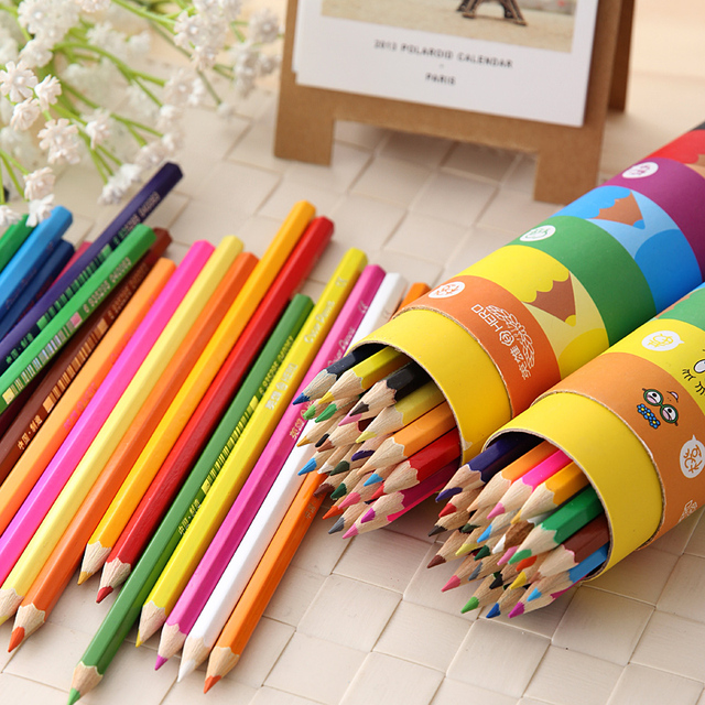 Color Pencil Set Stationary Tool For Secret Garden 48 Colored