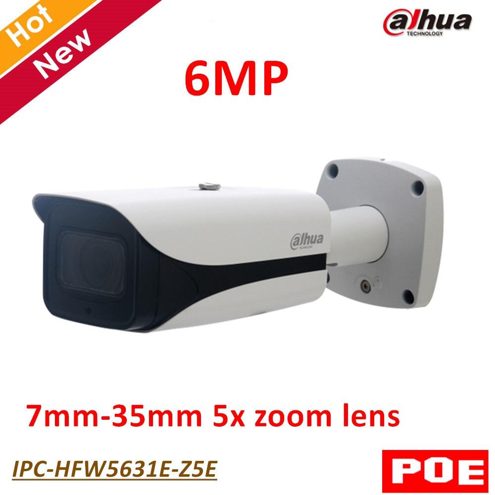 English version Dahua 6MP IP Camera IPC-HFW5631E-Z5E 6MP Poe IR Bullet Network Survillance Camera 7mm-35mm 5x zoom lens IP67 dahua 3mp network ir bullet camera ipc hfw1320s freeship poe original english version dh ipc hfw1320s dahua ip camera
