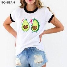 Summer 2019 pocket dabbing Avocado Vegan T shirt Harajuku Kawaii Avocado Love printed tshirt femme cute funny t shirts women top avocado print t shirt