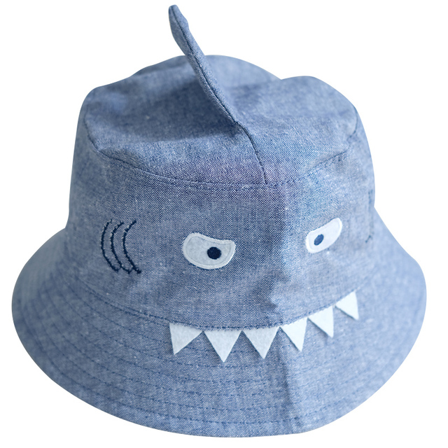 214ecc848c1 3D Shark Design Baby Sun Hat Baby Boys Girls Beach Hat Cotton Toddler Kids  Summer Hat