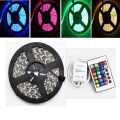 Free ship 5050 60 LED 5M DC 12V 55W Waterproof RGB Strip Light + RGB Control Box + 24 Key IR Controller