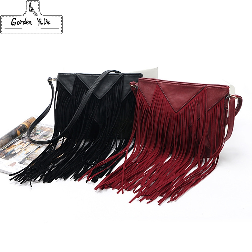 2017 New Brand designer women bag soft leather fringe crossbody bag shoulder women messenger bags crossbody bags for women