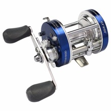 CL80 3.2:1 2+1 Ball Bearing Baitcasting Trolling Reels Round Lure Fishing Reel Left-Right Optional Metal Drum Wheel