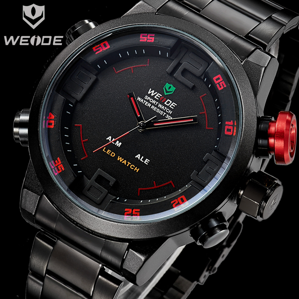 Relojes deportivos 2015 watches men luxury brand WEIDE led watch stainless steel deportivas waterproof relojes - China Factory Stores store
