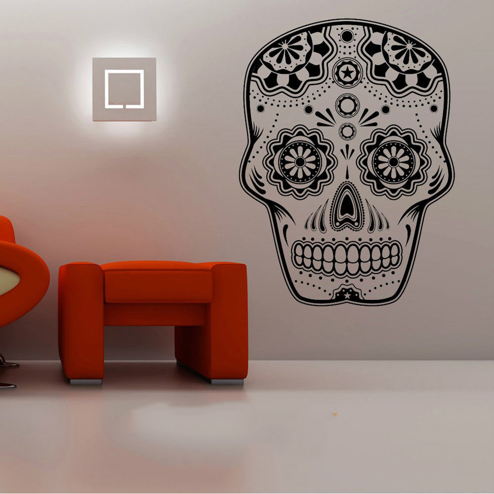 Buy aiyoaiyo skull heads wall sticker - Removable wall stickers living room ...