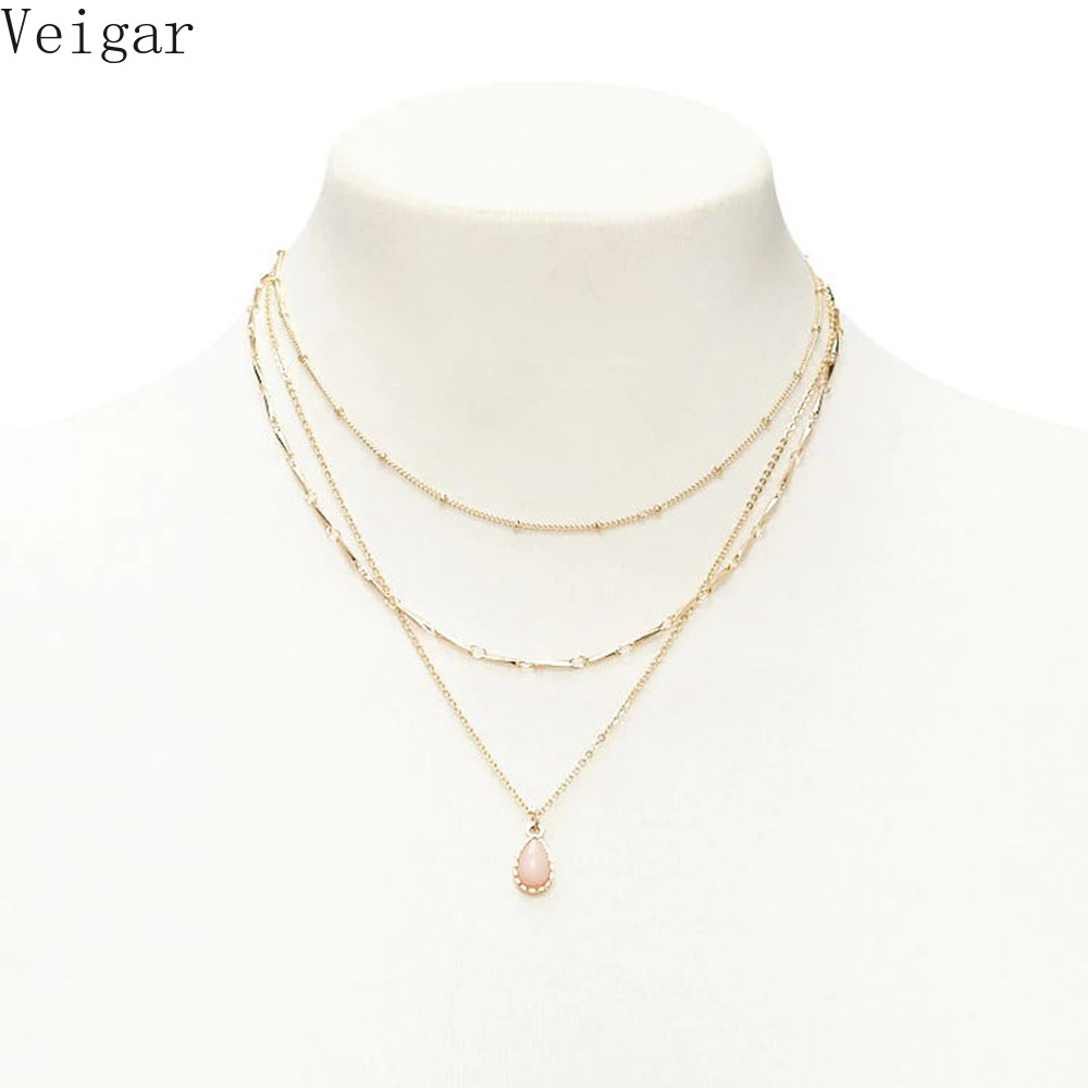 Chain Necklaces Necklaces & Pendants Star Pendant Necklace Gold Silver Color Clavicle Chain 2018 Fashion Jewellery Ladies Necklaces For Women Kettingen Voor Vrouwen Lovely Luster