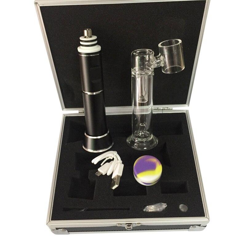 510 ongle HENAIL sec vaporisateur de cire à base de plantes avec capuchon en céramique/titane clou carbu dab plate-forme verre cire chauffage bobine verre tuyau d'eau 0C