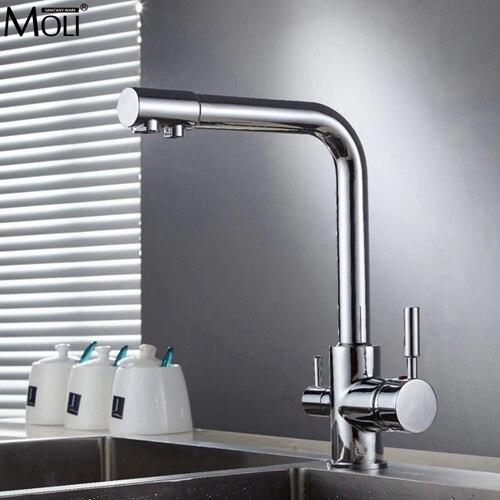Кухня питьевой воды кран чистой воды фильтр Кухня кран с фильтрованной воды горячей и холодной смесителя ml91