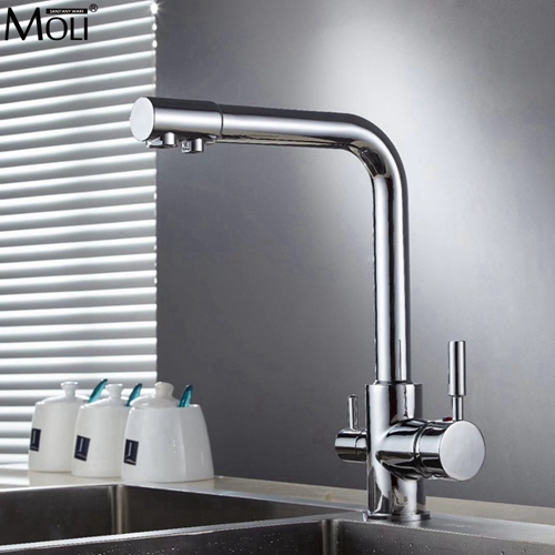 Kitchen Drinking Water Faucet Pure Water Filter Kitchen Crane with Filtered Water Hot and Cold Mixer Tap ML91