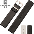 16 18 20 22 mm Leather Flat Strap Watchband Watch Strap For Daniel Wellington Calvin Klein For CK Watches Band Male Relogio Hom