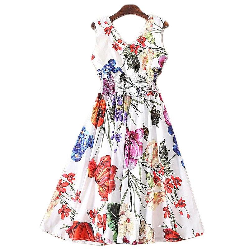 aa434973b78 Printemps Mode Imprimé Floral Multi Xf Femmes D été Robe 2019 Designer De  Doux Bohème Vacances ...