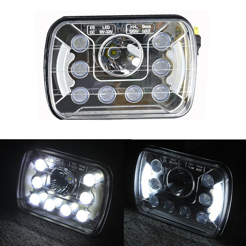 6 x7 5x7 inch High Low Beam Led Headlights For Jeep