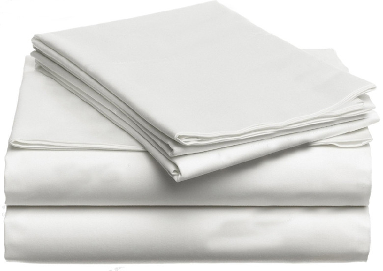 100% Egyptian Cotton Bedding Set  1600 TC Switzerland King Queen Size White Color N Pieces Bedding Fitted Sheets Customize