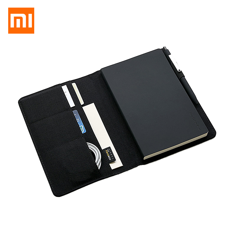 Xiaomi Mijia Smart Kaco Noble Paper Black NoteBook PU Leather Card Slot Wallet Planner Book For Traveler Diary Office Supplies